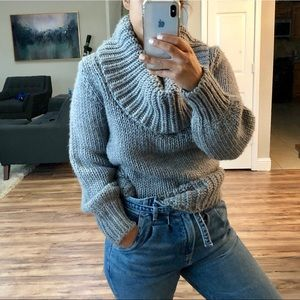 French Connection Chunky Knit Cowl Neck Sweater